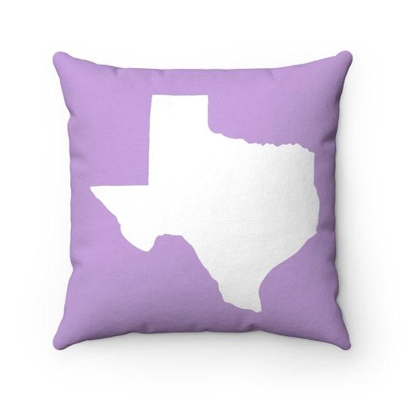 OUTDOOR Throw Pillow . Texas Outdoor Pillow . Lavender Texas State patio cushion . 16 18 20 inch . Texas Outside Pillow . Texan Pride
