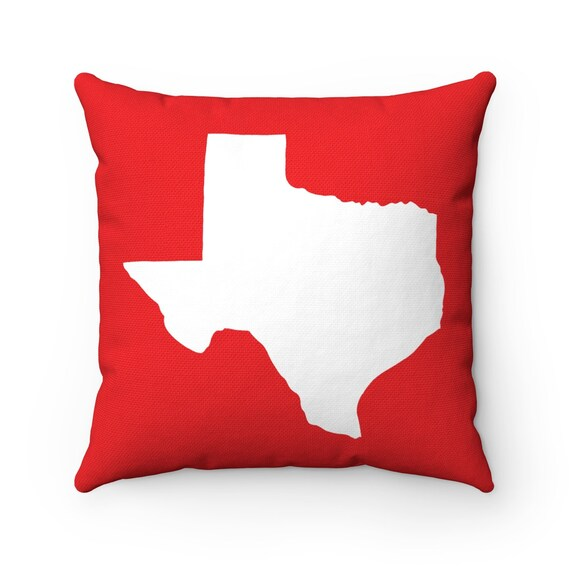 Texas Throw Pillow . Red Texas Pillow . Modern Red Pillow . Texas Cushion . Texas State Pillow . Red Pillow . Texas Gift 14 16 18 20 26 inch