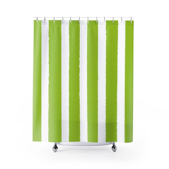 Lime Shower Curtain . Lime Green Striped Shower Curtain