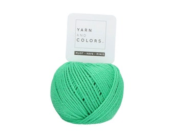 086 Peony Leaf - Yarn and Colors Must Have Mini - Green Cotton Yarn - Fine (2)