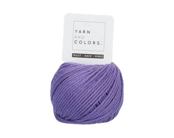 056 Lavender - Yarn and Colors Must Have Mini - Purple Cotton Yarn - Fine (2)