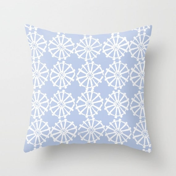 OUTDOOR Throw Pillow . Periwinkle Outdoor Pillow . Periwinkle patio cushion . Modern Geometric Pillow Wheel . 16 18 20 inch . Lumbar Pillow