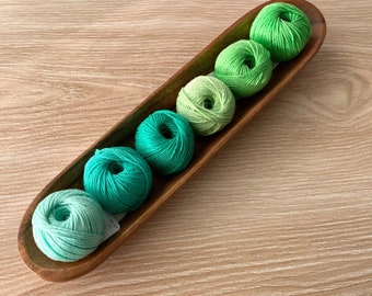 6 Cotton Yarn Set - Greens - Yarn and Colors Must Have Minis Cotton Yarn - Stocking Stuffer