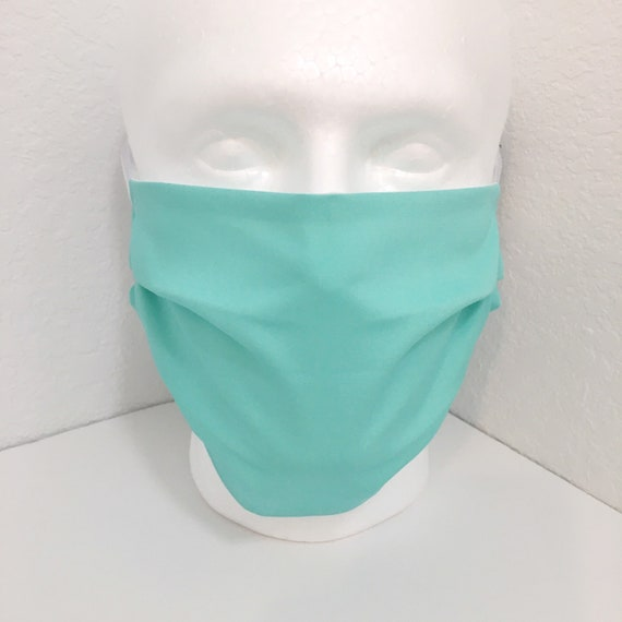 Aqua Extra Large Face Mask - XL Adult Adjustable Fabric Face Mask with Pocket for Filter - Fresh Water