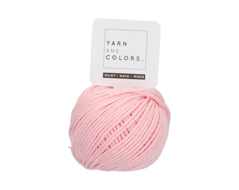 046 Pastel Pink - Yarn and Colors Must Have Mini - Pink Cotton Yarn - Fine (2)