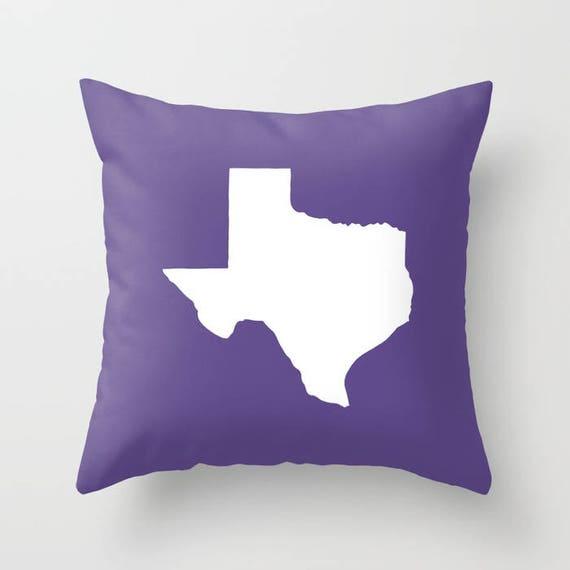 Texas Throw Pillow . Ultra Violet Pillow . Texas Cushion . Teal Pillow . Texas Pillow . Texas State Ultra Violet Texas Gift 14 16 18 20 inch
