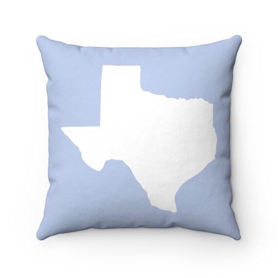 OUTDOOR Throw Pillow . Periwinkle blue Texas Outdoor Pillow . Blue Texas State patio cushion . 16 18 20 inch . Lumbar Pillow . Texan Pride