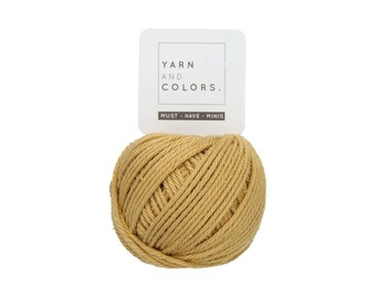 089 Gold - Yarn and Colors Must Have Mini - Gold Cotton Yarn - Fine (2)