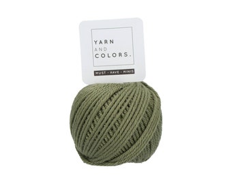 090 Olive - Yarn and Colors Must Have Mini - Green Cotton Yarn - Fine (2)