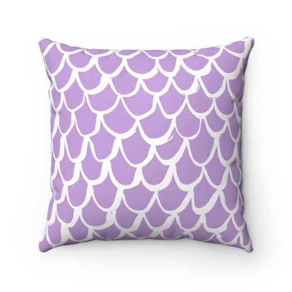 Lavender Mermaid Throw Pillow . Lavender Pillow . Amethyst Cushion . Mermaid Pillow . Lavender Pillow . Lavender Bolster 14 16 18 20 26 inch
