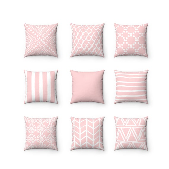 Blush Pink Throw Pillow . Blush Pillow . Mix and Match