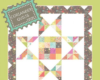 Barn Star 2 Wall Hanging quilt pattern by Coriander Quilts - Charm Pack quilt