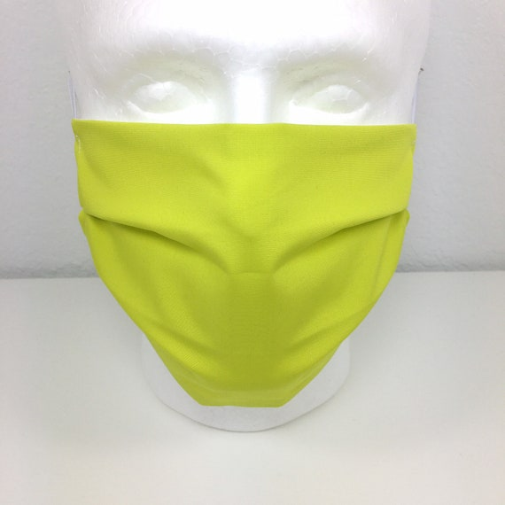 Pale Green Solid Face Mask - Adult / Tween / Teen  Adjustable Fabric Face Mask with Pocket for Filter - Lemonade
