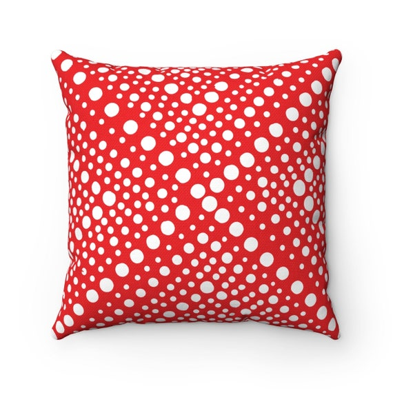 Outdoor Throw Pillow Red Patio Cushion Modern Geometric X Etsy