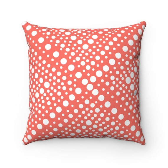 Outdoor Throw Pillow Coral Outdoor Pillow Modern Geometric Etsy