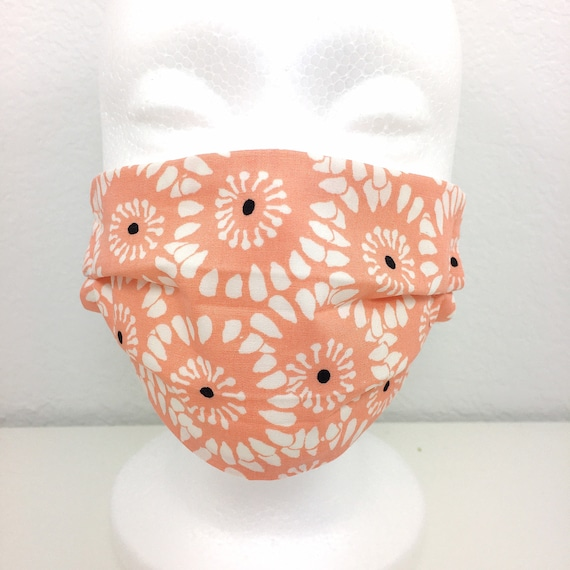 Peach Flower Child Face Mask