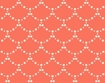 Ripples Coral - Coral Scallop Fabric - Millie Fleur - Art Gallery Fabrics MFL-21351 - Fabric by the yard