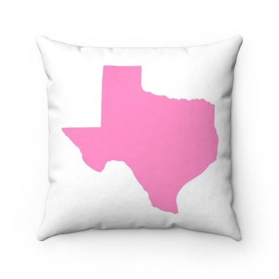 Texas Throw Pillow . Pink Texas Pillow . Texas Cushion . Modern Pink Pillow . Texas Pillow . Texas State . Texas Gift . 14 16 18 20 26 inch