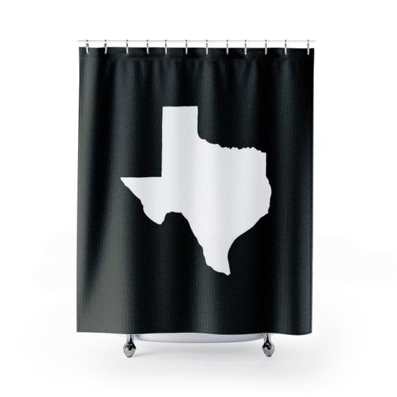 Black and White Texas Shower Curtain . Black & White Shower Curtain