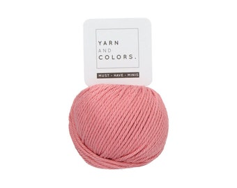 047 Old Pink - Yarn and Colors Must Have Mini - Pink Cotton Yarn - Fine (2)