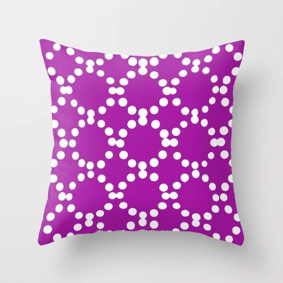 OUTDOOR Throw Pillow . Purple Outdoor Pillow . Purple patio cushion . Modern Geometric Pillow Ring Dot . 16 18 20 inch . Violet Lumbar
