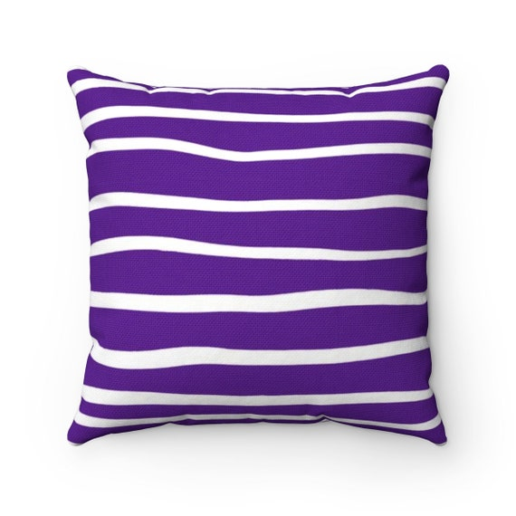 OUTDOOR Throw Pillow . Violet Outdoor Pillow . Purple Stripe Patio Cushion