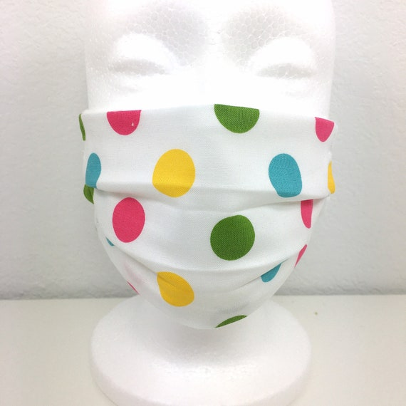 Polka Dot Child Face Mask