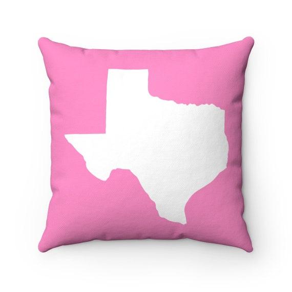 OUTDOOR Throw Pillow . Pink Texas Outdoor Pillow . Pink Texas State patio cushion . 16 18 20 inch . Pink Texas Lumbar Pillow . Texan Pride