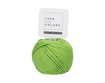 083 Peridot - Yarn and Colors Must Have Mini - Green Cotton Yarn - Fine (2)