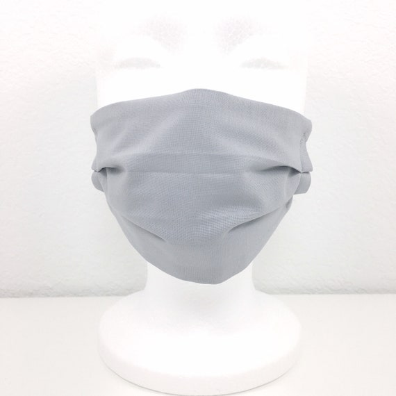 Solid Gray Child Face Mask - Adjustable Face Mask for Kids