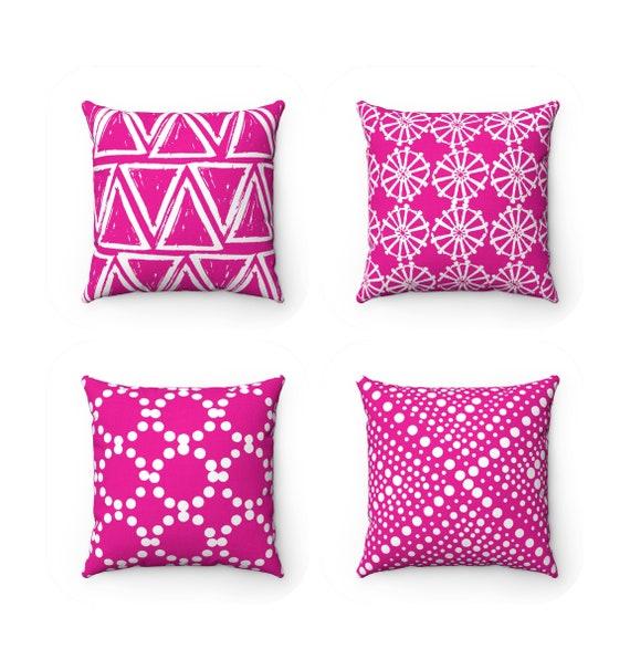 Fuchsia Throw Pillow . Modern Throw Pillow . Magenta Pink Cushion . Pink  Lumbar Pillow . Pink Pillow . Throw Pillow 14 16 18 20 26 inch