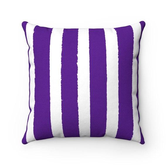 OUTDOOR Throw Pillow . Violet Outdoor Pillow . Purple Stripe patio cushion . Modern Purple Pillow . 16 18 20 inch . Purple Lumbar Pillow