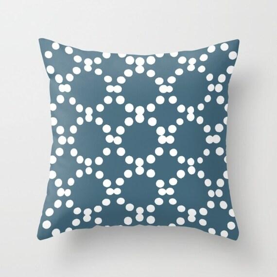 OUTDOOR Throw Pillow . Teal Outdoor Pillow . Teal patio cushion . Modern Geometric Pillow Ring Dot . 16 18 20 inch . Outside Pillow Lumbar