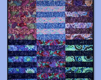 Sangria Quilt Pattern - Fat Quarter Friendly Beginner Quilt Pattern