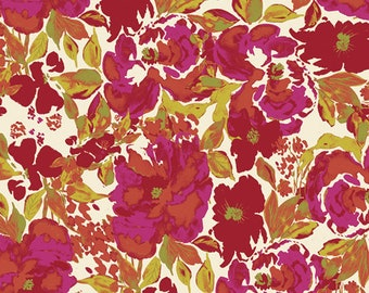 Dressing Room Rouge - Red Pink Floral Fabric - Art Gallery Fabrics - 365 Fifth Avenue - FAV-85840 - Fat Quarter