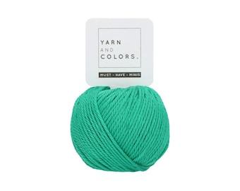 077 Green Beryl - Yarn and Colors Must Have Mini - Green Cotton Yarn - Fine (2)