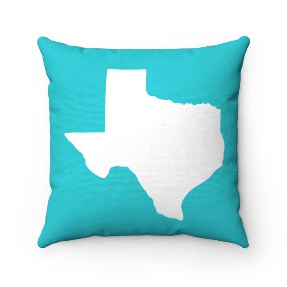 Texas Throw Pillow . Aquamarine Pillow . Texas Cushion . Aqua Texas Pillow . Texas State . Cyan Pillow  Texas State Gift 14 16 18 20 26 inch