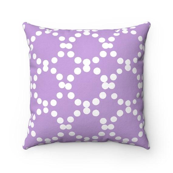 OUTDOOR Throw Pillow . Lavender Outdoor Pillow . Lavender patio cushion . Modern Geometric Pillow Ring Dot . 16 18 20 inch . Lumbar Pillow