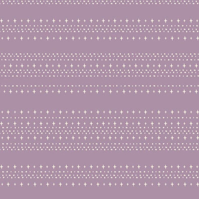 Stars Aligned Treat  Lavender Stripe Fabric  Spooky n Sweet image 0