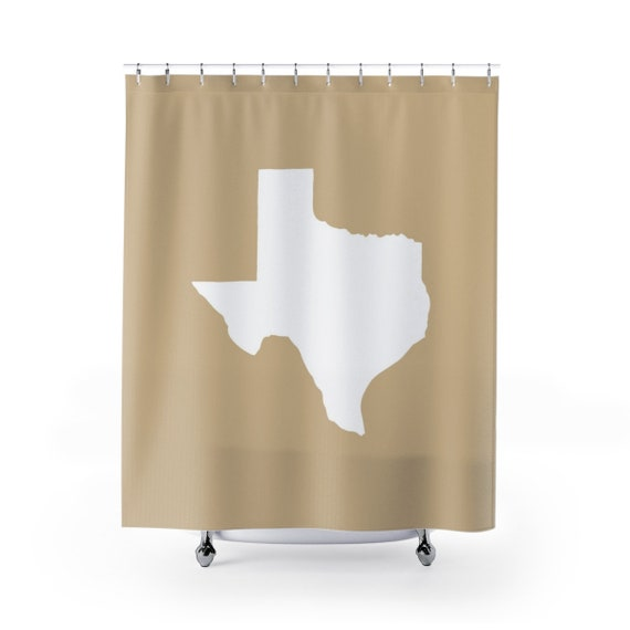 Tan Texas Shower Curtain . Tan Texas State Shower Curtain