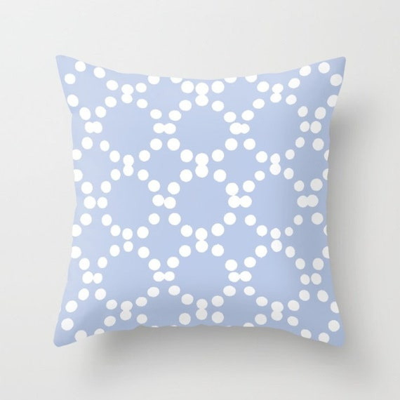 OUTDOOR Throw Pillow . Periwinkle Outdoor Pillow . Periwinkle patio cushion . Modern Geometric Pillow Ring Dot . 16 18 20 inch . Rectangle