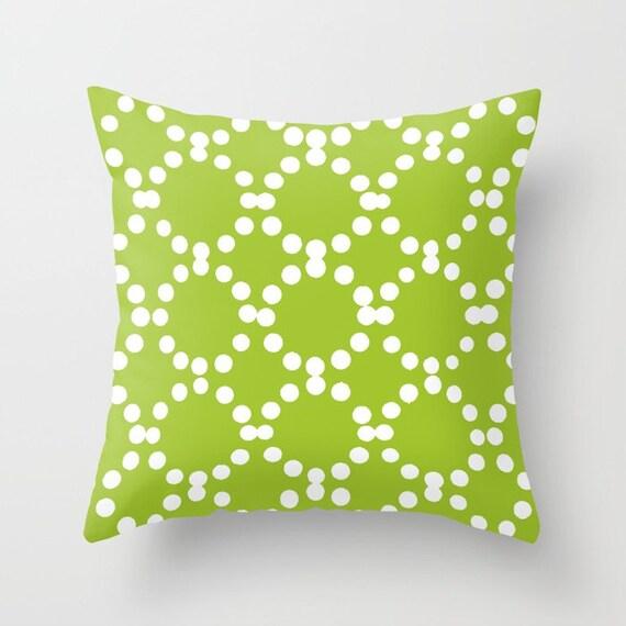 OUTDOOR Throw Pillow . Lime green Outdoor Pillow . Lime patio cushion . Modern Geometric Pillow Ring Dot . 16 18 20 inch . Lumbar Pillow