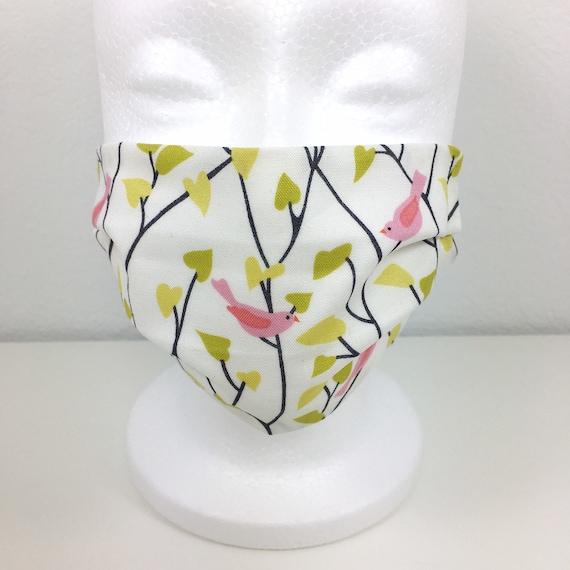 Bird Child Face Mask - Adjustable Fabric Mask