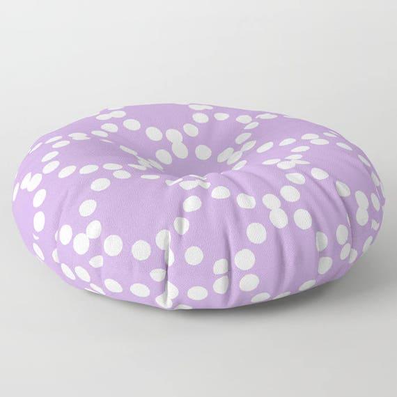 Lavender floor cushion . Round cushion . Lavender Pillow . Round pillow . Floor pillow . Geometric pillow . 26 inch pillow . 30 inch pillow