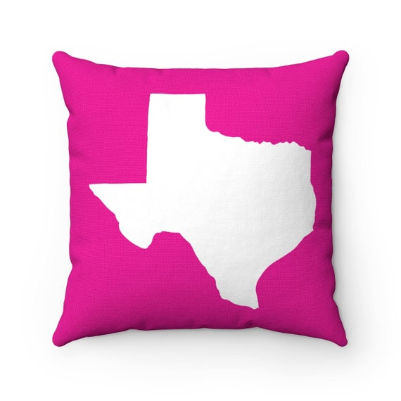 Magenta Texas Throw Pillow . Pink Texas Pillow . Modern Magenta Pillow . Texas Cushion . Texas State Pillow . Texas Gift 14 16 18 20 26 inch