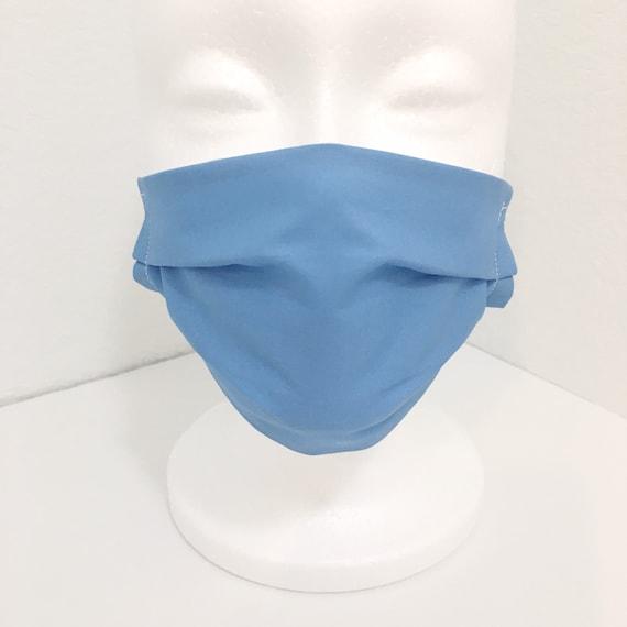 Light Blue Child Face Mask - Adjustable Fabric Mask - Aero Blue