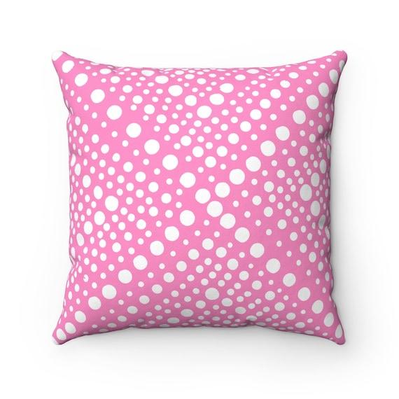 OUTDOOR Throw Pillow . Pink Outdoor Pillow . Modern Pink Patio Cushion . X Dot