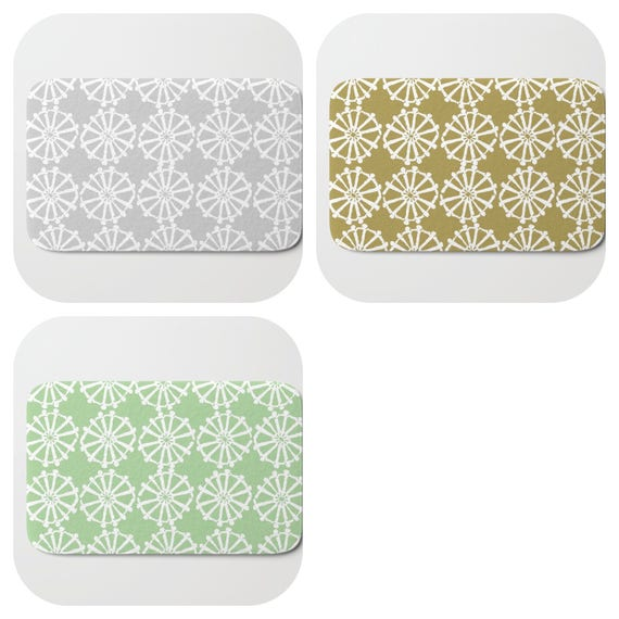 Bath Mat - Gold Bath Mat - Green Bath Mat - Bath Rug - Silver Grey Shower Mat - Wheel Rug - Grey Rug - Silver Memory Foam Mat