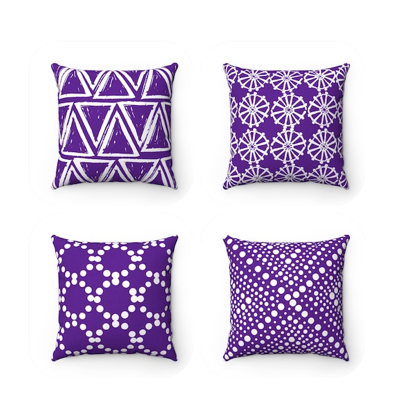 OUTDOOR Throw Pillow . Violet Outdoor Pillow . Violet pillow . Violet Patio Cushion . Throw Pillow 16 18 20 inch . Purple Lumbar Pillow