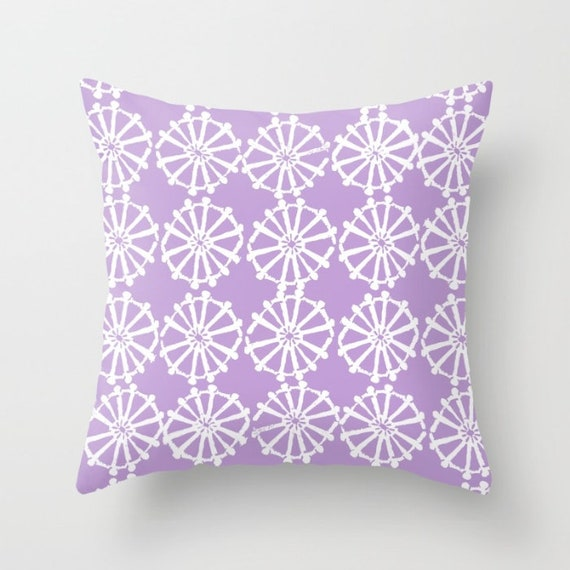 OUTDOOR Throw Pillow . Lavender Outdoor Pillow . Lavender patio cushion . Modern Geometric Pillow Wheel . 16 18 20 inch . Lumbar Pillow